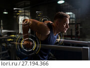 Купить «man doing triceps dip on parallel bars in gym», фото № 27194366, снято 2 июля 2017 г. (c) Syda Productions / Фотобанк Лори