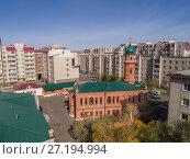 Купить «Соборная мечеть в городе Чите, Забайкальский край», фото № 27194994, снято 19 сентября 2017 г. (c) Геннадий Соловьев / Фотобанк Лори