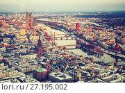Frankfurt at winter. Стоковое фото, фотограф Sergey Borisov / Фотобанк Лори