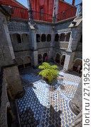 Купить «Cloisters surrounding the inner court of the monastery. Pena Palace. Sintra. Portugal», фото № 27195226, снято 3 июля 2016 г. (c) Serg Zastavkin / Фотобанк Лори