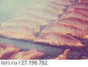 Купить «Ruddy pork ribs with a crust», фото № 27198782, снято 30 апреля 2017 г. (c) Яков Филимонов / Фотобанк Лори