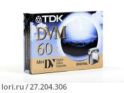 Купить «Mini DV vidocassette TDK», фото № 27204306, снято 19 мая 2016 г. (c) Евгений Ткачёв / Фотобанк Лори