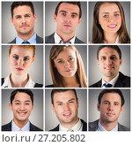 Купить «People collage portrait 3x3», фото № 27205802, снято 24 февраля 2020 г. (c) Wavebreak Media / Фотобанк Лори