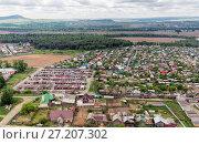 Купить «Urban panorama aerial view», фото № 27207302, снято 6 июня 2016 г. (c) Евгений Ткачёв / Фотобанк Лори
