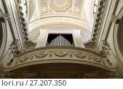 Купить «Musical organ of the Basilica Pieve Santo San Marino», фото № 27207350, снято 6 ноября 2016 г. (c) Евгений Ткачёв / Фотобанк Лори