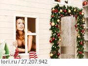 Купить «Sexy christmas elfin in fantasy house», фото № 27207942, снято 4 ноября 2017 г. (c) katalinks / Фотобанк Лори