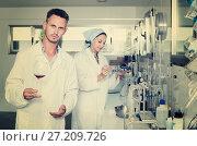 Купить «Man in chemical laboratory on winery», фото № 27209726, снято 12 декабря 2019 г. (c) Яков Филимонов / Фотобанк Лори