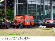 Купить «HAVANA, CUBA - JANUARY 27, 2013: old truck at the museum of revolution on the street of old Havana», фото № 27210434, снято 27 января 2013 г. (c) Куликов Константин / Фотобанк Лори