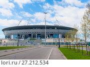 Купить «Зенит-арена. Футбольный стадион на Крестовском острове. Санкт-Петербург», эксклюзивное фото № 27212534, снято 21 мая 2017 г. (c) Александр Щепин / Фотобанк Лори