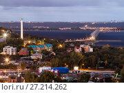 Купить «Ульяновск. Вид сверху на город», эксклюзивное фото № 27214262, снято 26 сентября 2017 г. (c) Литвяк Игорь / Фотобанк Лори