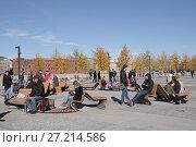 Купить «Крымская набережная осенью. Москва», фото № 27214586, снято 12 октября 2013 г. (c) Илюхина Наталья / Фотобанк Лори