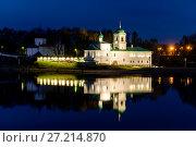 Купить «Россия, Псков, вечерний вид на Мирожский монастырь», фото № 27214870, снято 1 мая 2016 г. (c) glokaya_kuzdra / Фотобанк Лори