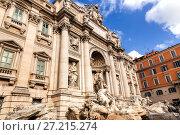 Купить «Trevi Fountain (Fontana di Trevi) in Rome, Italy. Trevi is most famous fountain of Rome», фото № 27215274, снято 7 ноября 2013 г. (c) Евгений Ткачёв / Фотобанк Лори