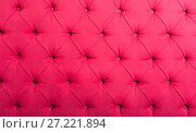 Купить «pink textile with buttons», фото № 27221894, снято 22 июля 2018 г. (c) Яков Филимонов / Фотобанк Лори