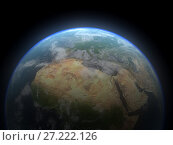 Realistic 3D Earth globe. Elements of this image furnished by NASA. Стоковая иллюстрация, иллюстратор Евдокимов Максим / Фотобанк Лори
