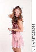 Купить «Girl in a pink negligee», фото № 27233094, снято 10 ноября 2011 г. (c) Argument / Фотобанк Лори