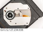 Купить «Open optical CD/DVD disc drive on a notebook», фото № 27234038, снято 4 ноября 2016 г. (c) bashta / Фотобанк Лори