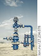 Купить «Valves of oil production line», фото № 27234078, снято 24 мая 2016 г. (c) bashta / Фотобанк Лори