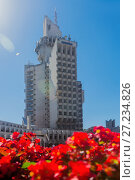 Купить «Image of City Hall in Satu Mare», фото № 27234826, снято 14 сентября 2017 г. (c) Яков Филимонов / Фотобанк Лори