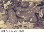 Купить «Variety of meats on table», фото № 27234870, снято 18 октября 2018 г. (c) Яков Филимонов / Фотобанк Лори