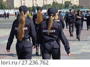 Купить «Девушки курсанты полиции на Поклонной горе в Москве», эксклюзивное фото № 27236762, снято 31 августа 2017 г. (c) Елена Коромыслова / Фотобанк Лори
