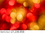 Купить «Abstract bokeh background red and golden color», фото № 27238858, снято 25 ноября 2017 г. (c) Юлия Бабкина / Фотобанк Лори