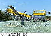 Купить «Mining and processing plant for processing crushed stone, sand and gravel», фото № 27244830, снято 2 июня 2015 г. (c) Евгений Ткачёв / Фотобанк Лори