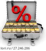 Купить «Выгодный процент. Бизнес концепция с украинскими банкнотами», иллюстрация № 27246286 (c) WalDeMarus / Фотобанк Лори