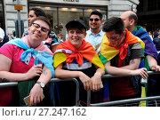 Купить «People celebrating Pride in London 2016 Featuring: Atmosphere Where: London, United Kingdom When: 25 Jun 2016 Credit: WENN.com», фото № 27247162, снято 25 июня 2016 г. (c) age Fotostock / Фотобанк Лори