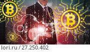 Купить «Composite image of symbol of bitcoin digital cryptocurrency», фото № 27250402, снято 29 февраля 2020 г. (c) Wavebreak Media / Фотобанк Лори
