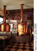 Купить «Brewery equipment», фото № 27250890, снято 12 декабря 2016 г. (c) Евгений Ткачёв / Фотобанк Лори