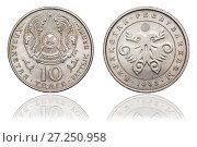 Купить «The coin is 10 tenge. The Republic of Kazakhstan. 1993», фото № 27250958, снято 22 января 2016 г. (c) Евгений Ткачёв / Фотобанк Лори