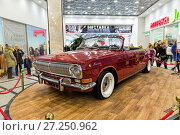 Купить «The car Volga GAZ-24 cabriolet. Car Exhibition in Greenwich shopping center», фото № 27250962, снято 11 февраля 2017 г. (c) Евгений Ткачёв / Фотобанк Лори