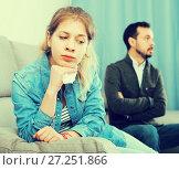 Купить «Father and daughter arguing», фото № 27251866, снято 4 марта 2017 г. (c) Яков Филимонов / Фотобанк Лори