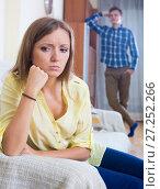 Купить «Young husband blaming girl during quarrelling», фото № 27252266, снято 18 июля 2019 г. (c) Яков Филимонов / Фотобанк Лори