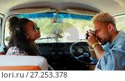 Купить «Man clicking picture of woman with vintage camera 4k», видеоролик № 27253378, снято 25 июня 2018 г. (c) Wavebreak Media / Фотобанк Лори