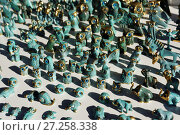 Купить «Greek souvenirs with blue amulets», фото № 27258338, снято 9 октября 2017 г. (c) Stockphoto / Фотобанк Лори