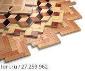 Купить «Stack ofr parquet wooden planks. Few types of wooden parquet coating.», фото № 27259962, снято 8 июля 2020 г. (c) Maksym Yemelyanov / Фотобанк Лори