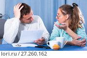 Купить «Couple struggling to pay bills», фото № 27260162, снято 18 марта 2017 г. (c) Яков Филимонов / Фотобанк Лори
