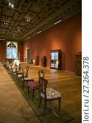 Austria, Vienna, Museum for Applied Arts, MAK, historic furniture designs. (2016 год). Редакционное фото, фотограф Walter Bibikow / age Fotostock / Фотобанк Лори