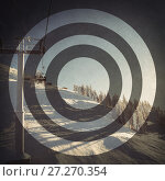 Купить «Empty ski lift in the ski resort», фото № 27270354, снято 4 августа 2020 г. (c) Wavebreak Media / Фотобанк Лори