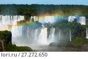Купить «Waterfall Cataratas del Iguazu on Iguazu River, Brazil», фото № 27272650, снято 17 февраля 2017 г. (c) Яков Филимонов / Фотобанк Лори