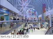 Купить «Christmas market in Itis shopping center», фото № 27277850, снято 9 декабря 2017 г. (c) Stockphoto / Фотобанк Лори