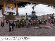 Купить «Christmas market in Helsinki, Finland», фото № 27277854, снято 9 декабря 2017 г. (c) Stockphoto / Фотобанк Лори