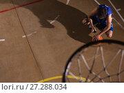 Купить «Basketball player taking a break», фото № 27288034, снято 21 октября 2017 г. (c) Wavebreak Media / Фотобанк Лори