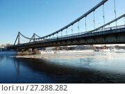 Купить «Крымский мост. Район Якиманка. Город Москва», эксклюзивное фото № 27288282, снято 31 января 2011 г. (c) lana1501 / Фотобанк Лори