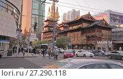 Купить «Chinese city of Shanghai», видеоролик № 27290118, снято 13 декабря 2017 г. (c) Балдина Алиса / Фотобанк Лори