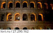 Купить «Colosseum in centre of city of Rome, Italy», видеоролик № 27290162, снято 10 августа 2017 г. (c) BestPhotoStudio / Фотобанк Лори