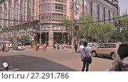 Купить «Chinese city of Shanghai», видеоролик № 27291786, снято 1 декабря 2017 г. (c) Балдина Алиса / Фотобанк Лори