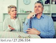 Купить «Wife and husband are offended at each other», фото № 27296934, снято 23 марта 2019 г. (c) Яков Филимонов / Фотобанк Лори